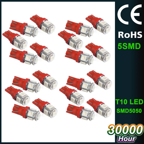 factory 12V T10 type SMD 5050 bulb car led light