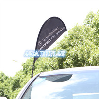 cheap custom window teardrop car flag