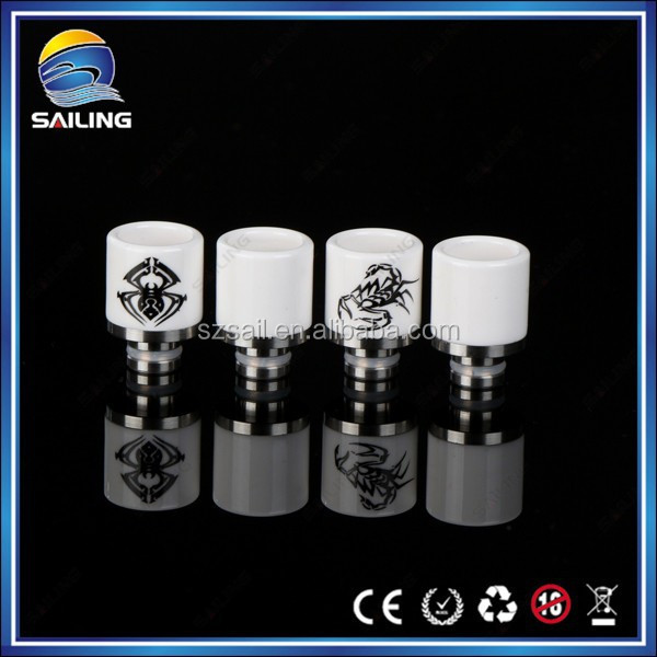 2015 Sailing Hot 510 Drip Tips Wide Bore Ceramic Spider Drip Tips for Eletronic Cigarette