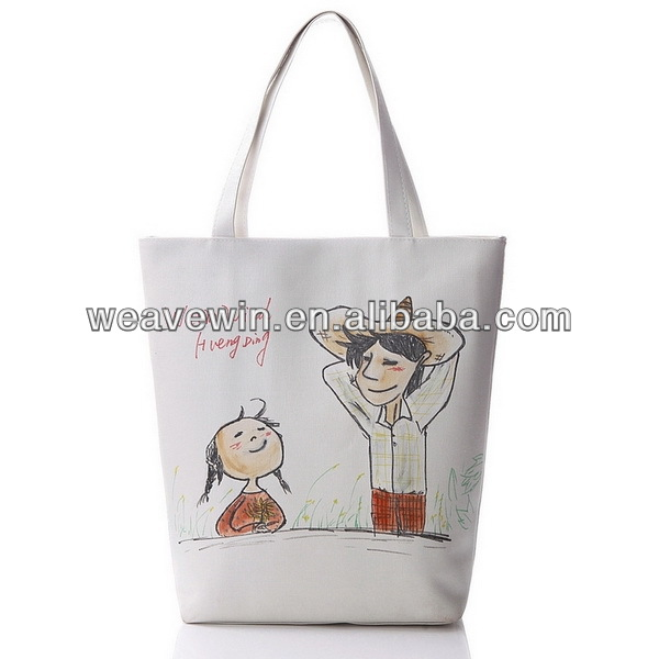 2014 latest style bucket bag tote bag custom printed