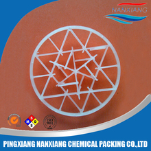 PE PP PVDF Plastic Snowflake ring packing for waste water treatment plant