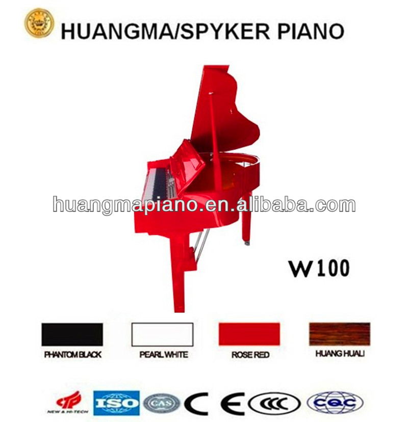 Digital Piano 88 keys Red Polish Digital Grand Piano HUANGMA HD-W100 red grand digital piano silent guitar
