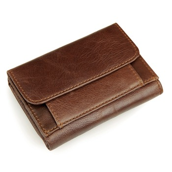 JMD Genuine Leather Men's Wallet With RFID Blocking Fabric Sleeve R-8106C