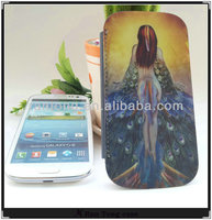 Newest for Samsung galaxy s3 9300 flip leather case,PU 3d mobile phone case for samsung galaxy s3