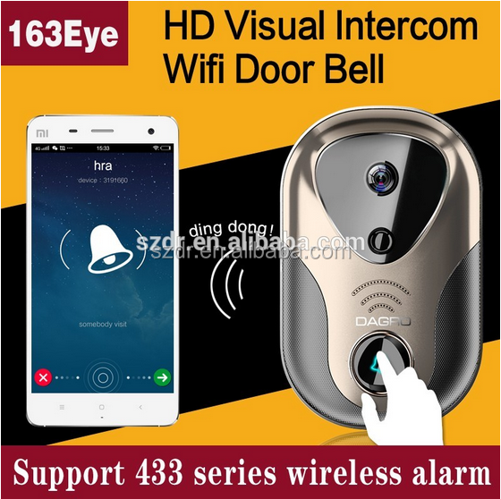 Night Vision Infrared wireless ip poe doorbell security camera Onvif HD 720P Two Way Talk