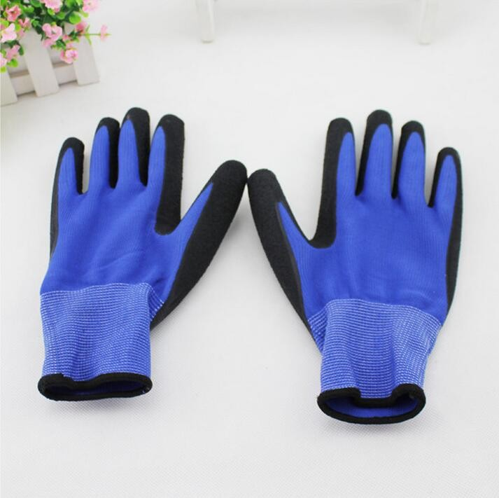 Disposable HDPE/LDPE/CPE latex gloves price Latex Coated cotton PU PVC Nitrile Nitril Rubber Coating Safety