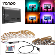 USB DC 5V 1M to 5M 5050 LED Strip RGB Light TV Back Lighting Kit + RF Remote Controller White Black Color Protection class IP60
