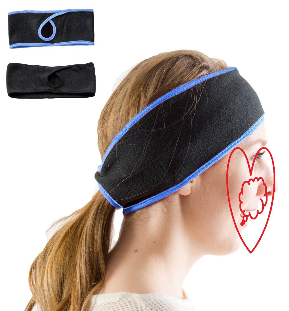 New design Winter Windproof Fleece Horsetail hole Bicycle Hairband Women Jogging Headband for Outdoor Running Ear Warmers
