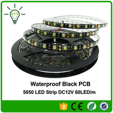 Black PCB 5050 DC12V IP65 Waterproof wholesale cheap led light strip