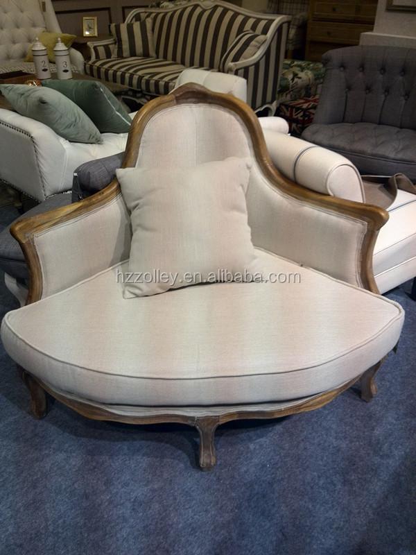 독특한 디자인 웨딩 가구 한 좌석 settee 오크 나무 코너 소파 의자 ...
