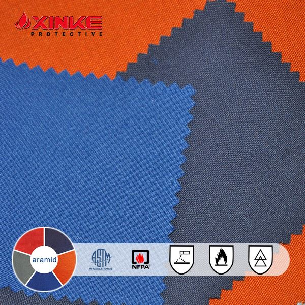 high quality Aramid Inherently Flame Retardant plain weave fabric for Safety Clothing