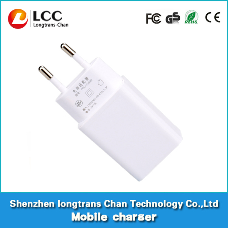 Build in integrated circuit 5V 2A mobile charger portable travel usb charger for cell phone ,MP3