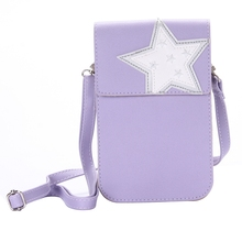 New Fashionable Five-Star Pattern PU Leather Single Shoulder Bag for Women