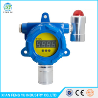 fixed combustible gas detector/ monitor with sound light alarm