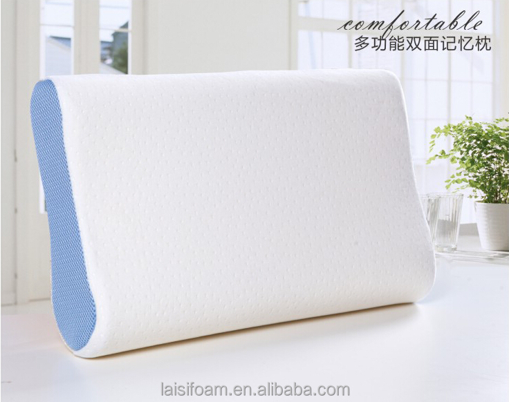 100% polyester memory foam pillow mesh fabric cover for side high quality air layer knitted fabric cover