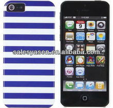 Stripe imd pc cases for iphone 5 with customized design