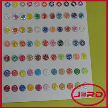hot sale 2-holes resin round shape fabric covered buttons for clothing