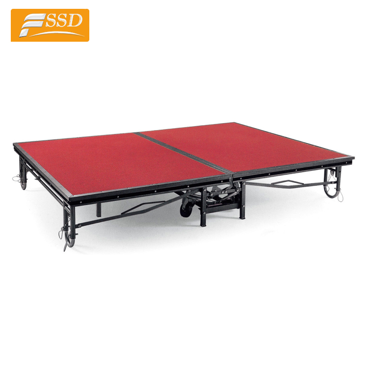 Hot Sale Quality Movable Mobile <strong>Stage</strong> for Banquet Hall in stock