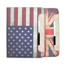 Retro Vintage Flag Stand Wallet Smart Cover Leather Case for iPad Air