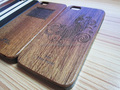 Fine craft,engraved logo, sapele wooden case for iphone 5