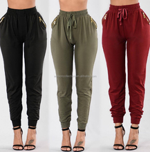 Women Sweatpants Casual Sport Trousers Cargo Slacks Harem Straight Pocket Pants leggnings