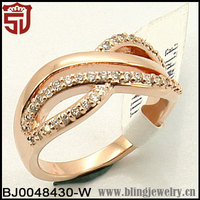 New Lanch Rose Gold Over Silver Band Promise Ring