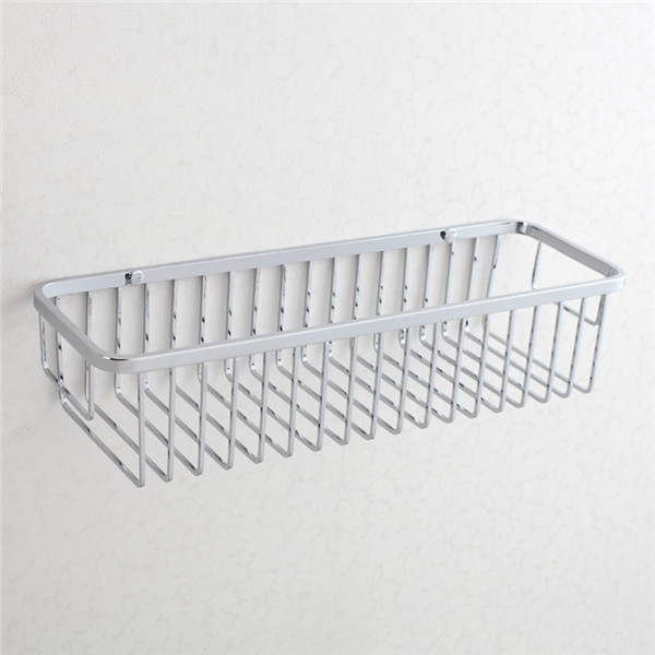 Rectangle stainless steel bathroom storage wire basket in chrome