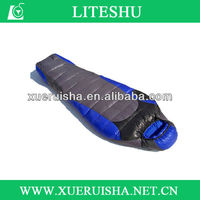 2014 new design 90% white goose down sleeping bag by factory