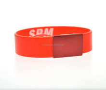 2017 promotional gifts rubber silicone bracelet rubber wrist band
