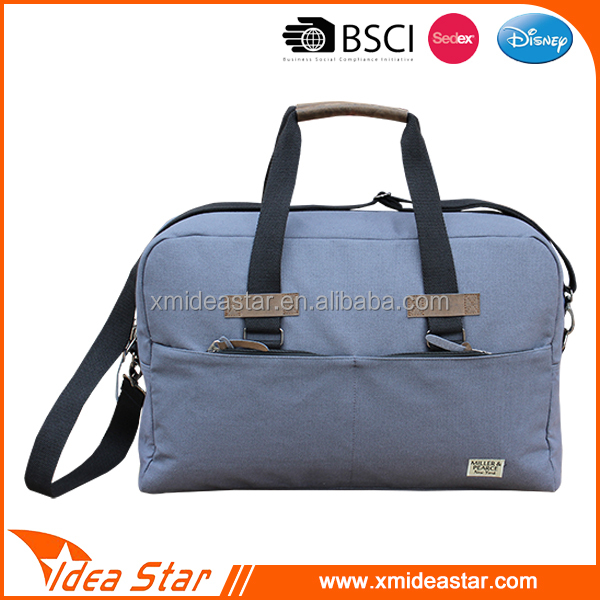 Wholesale competitive price classy canvas hand carry travel bag