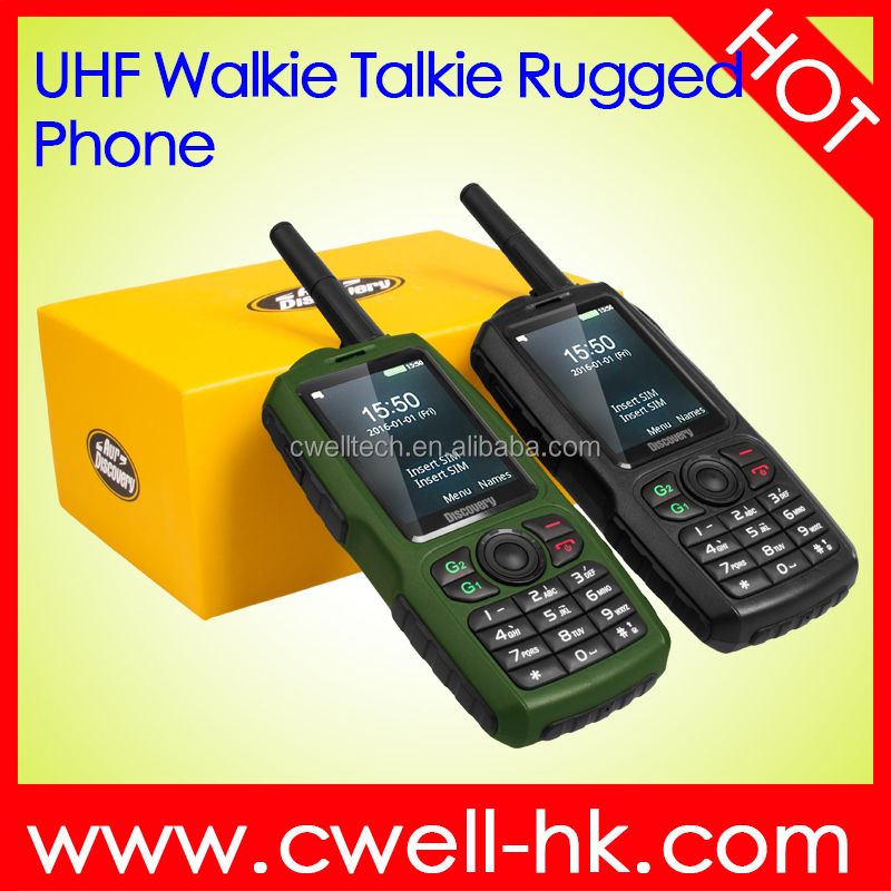 New Arrival 2.4 Inch Screen Discovery A16 UHF Walkie Talkie Power Bank Function GSM Rugged Bulk China Mobile Phone