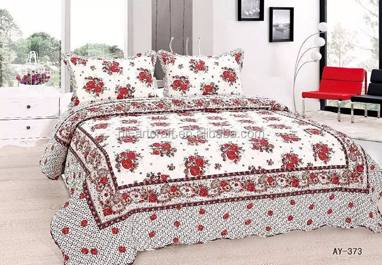 Newest Indian Design Bright Colors Cheap Twin Bed Sheets