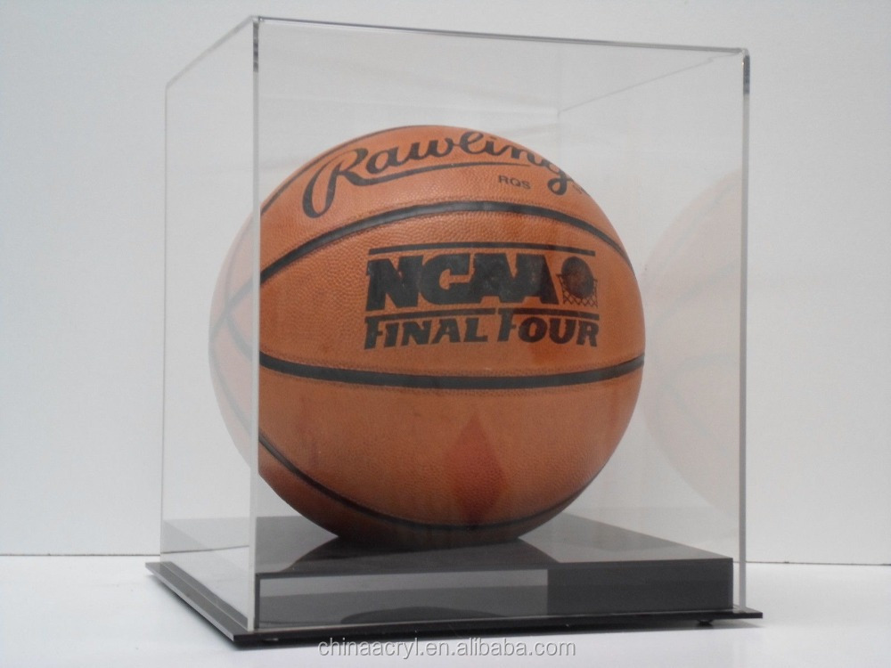 high quality fashion style clear acrylic display case basketball