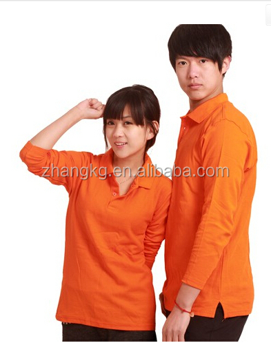 Love couple polo shirt ,customized long sleeve polo shirts for couples ,blank polos