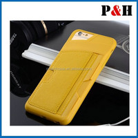 New Shockproof TPU Credit Card Holder Wallet Case Cover for iPhone5/5S/5G 6 4.7""