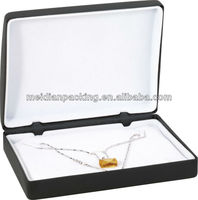 Custom black leather wholesale jewelry gift box for uk buyers