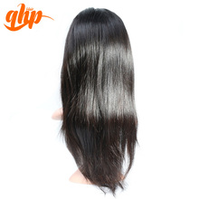 Relaxed brazilian invisible part wig remy original silky straight human hair lace wig