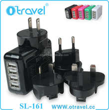 New Now Portable 4 Port USB Wall Charger Travel Adapter Desktop Tablet Charging Station for Nexus HTC Mobiles, Tablet