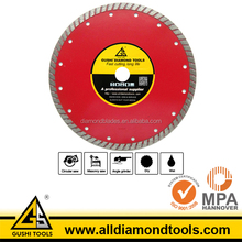 Sintered Turbo Rim Red Color Diamond Saw Blade for Dry Marble Cutting