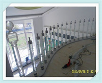 Professional service acrylic indoor decorative baluster, modern spiral staircase