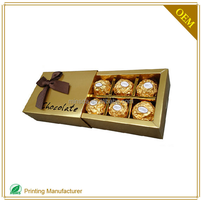 Very High Quality Chocolate Packaging Box Inserts In Strong Cardboard Boxes