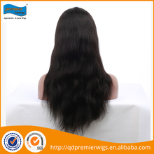 Wholesale 18 inches human hair full lace wig for women packed in pvc bag