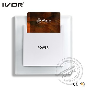 EU Standard hotel room key card switch, energy saving switch, 110V~250V, 30A