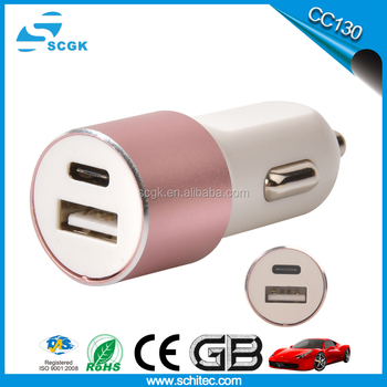 Fast speed portable car battery charger 2.1a type-c car charger