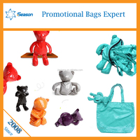 2015 Fashion Eco animal bear foldable reusable polyester shopping bags