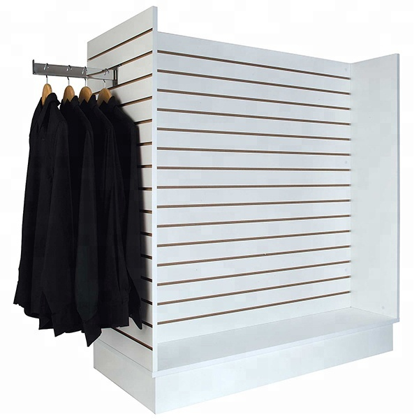 Hot sale free standing slatwall <strong>display</strong> for retail shop