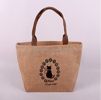 Simple Custom Logo Recycle Fabric Shopping Organic jute Bag For Shopping