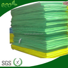Green human contact safe plastic foam cell closed rubber EVA foam padding material for outdoor chairs