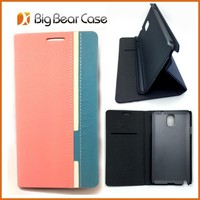 Factory leather flip fancy cover for samsung galaxy note 3 case