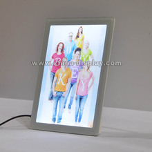 2016 New style advertising light up free standing tabletop small led light box